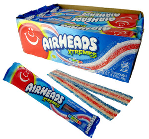 AIRHEADS XTREMES SOUR BELTS- BLUEST BERRY - Sweets and Geeks