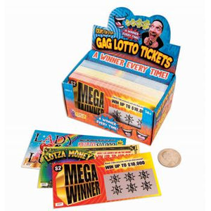 GAG LOTTO TICKETS - Sweets and Geeks