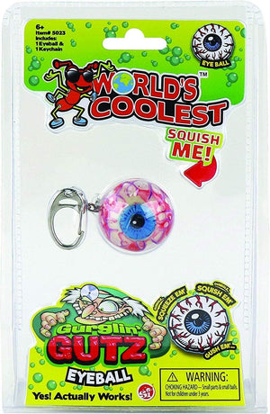 World's Coolest Gurgling Gutz Eyeball Keychain - Sweets and Geeks