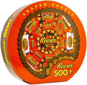 Shaped Reese's 500pc Round - Sweets and Geeks