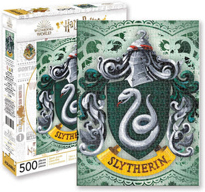 Harry Potter Puzzle Slytherin Crest (500 Piece Jigsaw Puzzle) - Sweets and Geeks