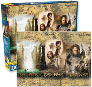 Lord of the Rings Triptych 1,000 pc Puzzle - Sweets and Geeks