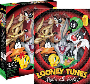 "Looney Tunes ""That All Folks"" Jigsaw Puzzle (1000 Piece) - Sweets and Geeks"