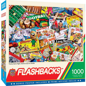 Family Game Night 1000pc Puzzle - Sweets and Geeks