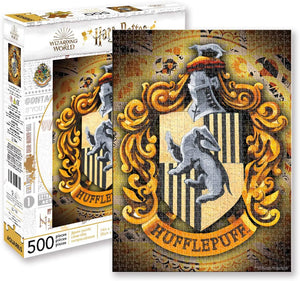 Harry Potter Puzzle Hufflepuff Crest (500 Piece Jigsaw Puzzle) - Sweets and Geeks