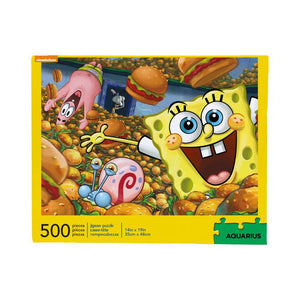 SpongeBob Krabby Patties 500pc Puzzle - Sweets and Geeks