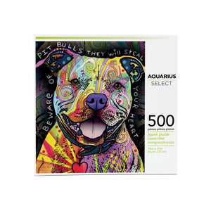 Dean Russo - Beware Pit Bull AS 500 Piece Jigsaw Puzzle - Sweets and Geeks