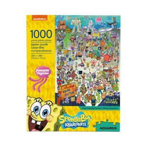 SpongeBob SquarePants - Cast 1000 Piece Jigsaw Puzzle - Sweets and Geeks