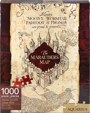 Harry Potter Marauders Map 1000 Pc Jigsaw Puzzle - Sweets and Geeks