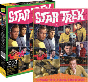 Aquarius Star Trek Retro 1000 Piece Puzzle - Sweets and Geeks
