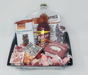 Bacon Gift Basket Packaged by Sweets and Geeks - Sweets and Geeks