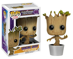 Funko Pop! Guardians of the Galaxy - Dancing Groot (White) #65 - Sweets and Geeks