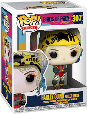 Funko Pop! Heroes: Birds of Prey - Harley Quinn (Roller Derby) #307 - Sweets and Geeks