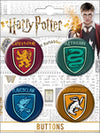 Harry Potter 4 Button Set - Sweets and Geeks