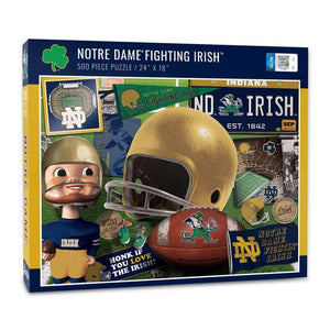 Notre Dame Fighting Irish 500 Piece Jigsaw Puzzle - Sweets and Geeks