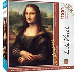 Mona Lisa 1000pc Puzzle W/Linen - Sweets and Geeks