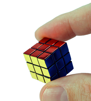 World's Smallest 40th Anniversary Metallic Rubik's Cube - Sweets and Geeks
