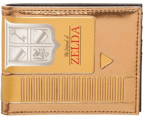 The Legend Of Zelda Gold Bifold Wallet - Sweets and Geeks