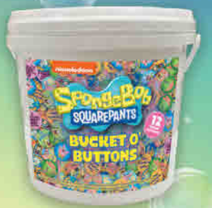 Spongebob Bucket of Buttons - Sweets and Geeks