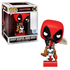 Funko Pop! Marvel - Sheriff Deadpool Riding Horsey #99 - Sweets and Geeks