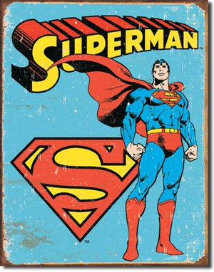 Superman 1945 Retro Metal Tin Sign - Sweets and Geeks