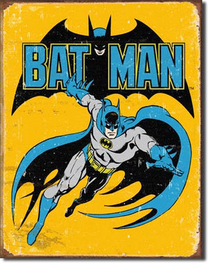 Batman Retro Metal Tin Sign - Sweets and Geeks