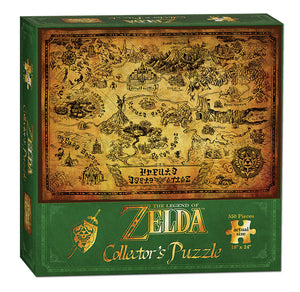 "The Legend of Zelda™ ""Hyrule Map"" Collector's 550 Piece Puzzle - Sweets and Geeks"