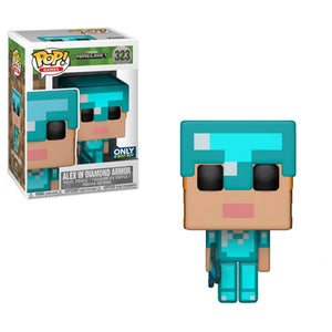 Funko Pop Games: Mojang Minecraft - Alex in Diamond Armor (Best Buy Exclusive) #323 - Sweets and Geeks