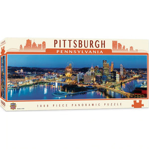 Pittsburgh 1000pc Panoramic Puzzle - Sweets and Geeks