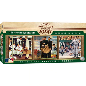 Baseball 1000pc Panoramic Puzzle - Sweets and Geeks