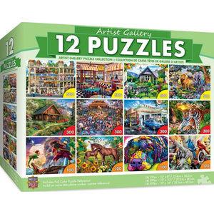 Artist Gallery 12 pack Puzzle Bundle - Sweets and Geeks