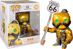 Funko POP! Games: Overwatch - B.O.B. (Walmart Exclusive) #558 - Sweets and Geeks