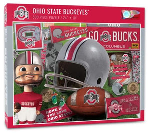 The Ohio State Buckeyes 500 Piece Jigsaw Puzzle - Sweets and Geeks