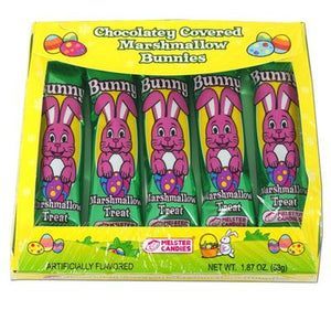 Chocolate Covered Marshmallow Bunnies 5pk - Sweets and Geeks