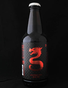 Dragon Tail Lightning Cola w/ Tea Soda - Sweets and Geeks