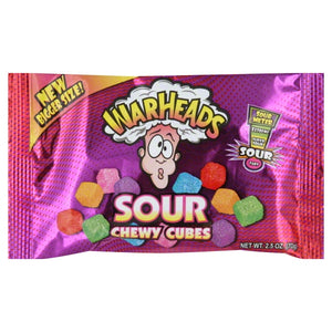 WARHEADS Chewy Cubes 2.5 oz. Bag - Sweets and Geeks