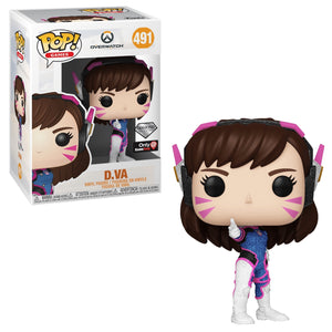 Funko Pop! Games: Overwatch - D.Va (Glitter) Game Stop Exclusive #491 - Sweets and Geeks