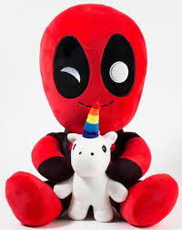 HugMe Deadpool with Unicorn Plush - Sweets and Geeks
