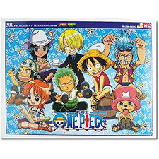 One Piece: Chibi Straw Hat Pirates Group Image 300 Piece Puzzle - Sweets and Geeks