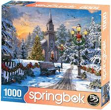 Holiday Church Puzzle 1000pc - Sweets and Geeks