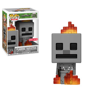 Funko Pop Games: Mojang Minecraft - Flaming Skeleton (Target Exclusive) #326 - Sweets and Geeks