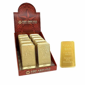 Fort Knox Gold Ingots Chocolate Bars - 1oz - Sweets and Geeks