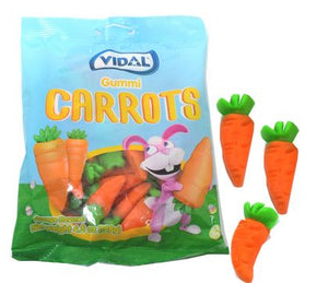 Gummi Carrots Easter Candy 4.5oz Bag - Sweets and Geeks