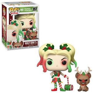 Funko Pop Heroes: DC Super Heroes - Harley Quinn with Helper #357 - Sweets and Geeks