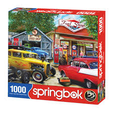 Springbok: Hot Rod Café 1000pc - Sweets and Geeks