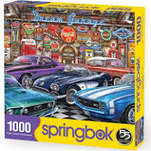 Springbok: Dream Garage 1000pc - Sweets and Geeks