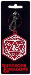D&D Soft Touch D20 Keychain - Sweets and Geeks