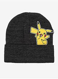 Pokemon Pikahcu Peak-a-Boo Black Beanie - Sweets and Geeks
