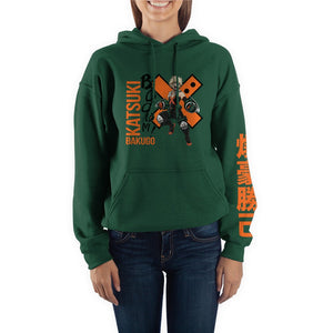 MHA Bakugo Green Hoodie - Sweets and Geeks