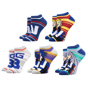 My Hero Academia 5 Pair Ankle Socks - Sweets and Geeks